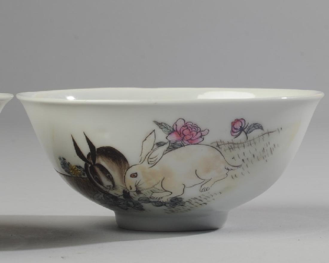 2 Chinese Republic Nanchang Zodiac Bowls - 3