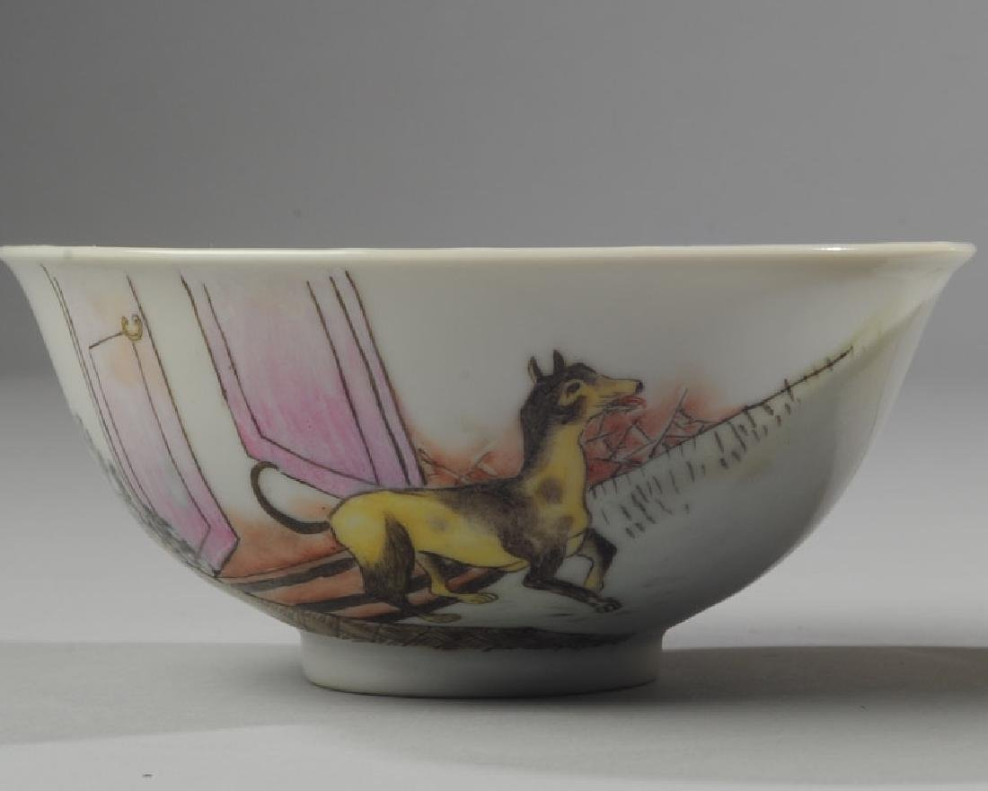 2 Chinese Republic Nanchang Zodiac Bowls - 2