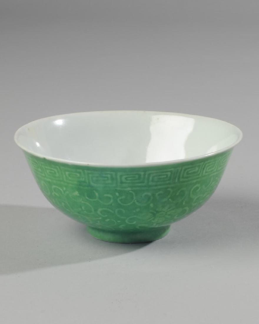 Chinese Dragon Bowl Apple Green