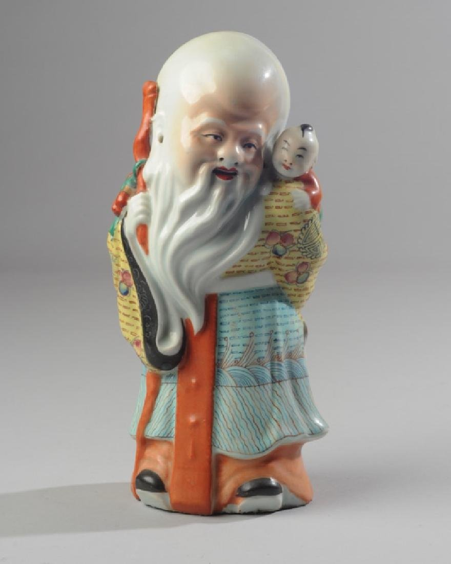 Chinese Famille Rose Porcelain Figure of Immortal