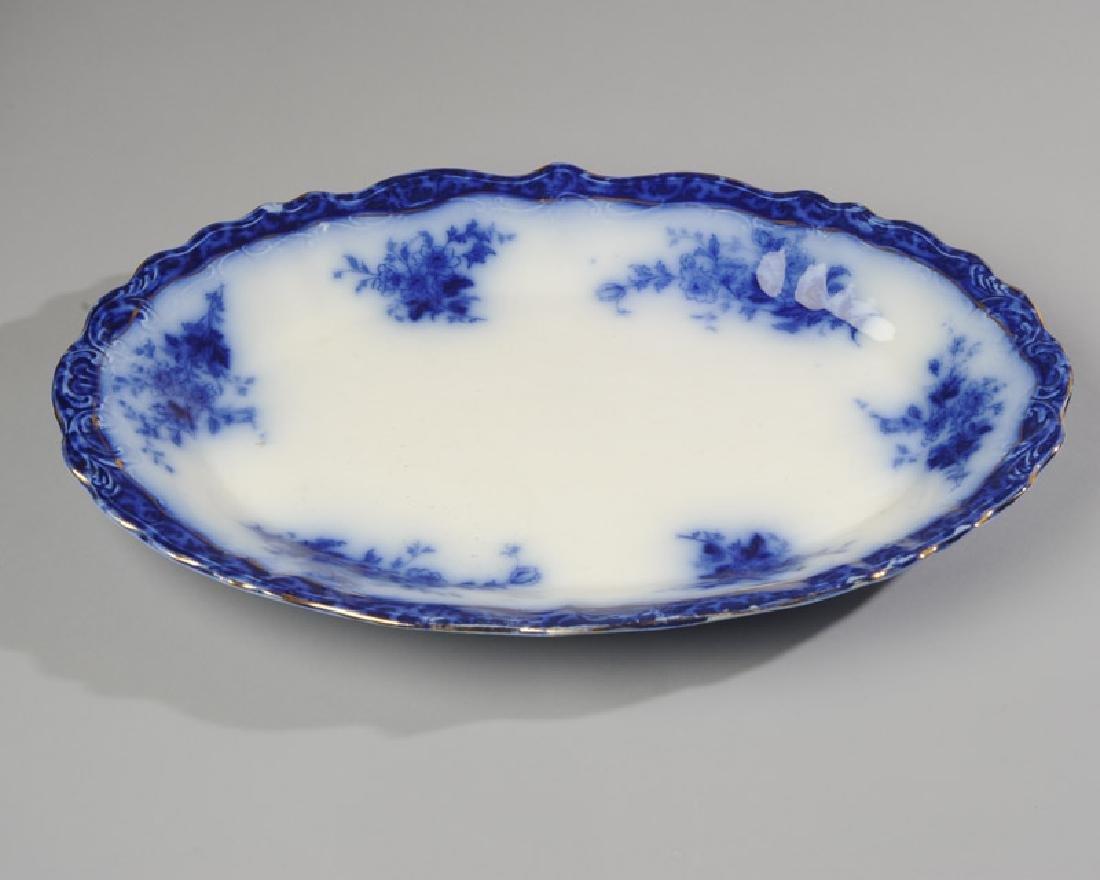 English Flow Blue Meat Platter