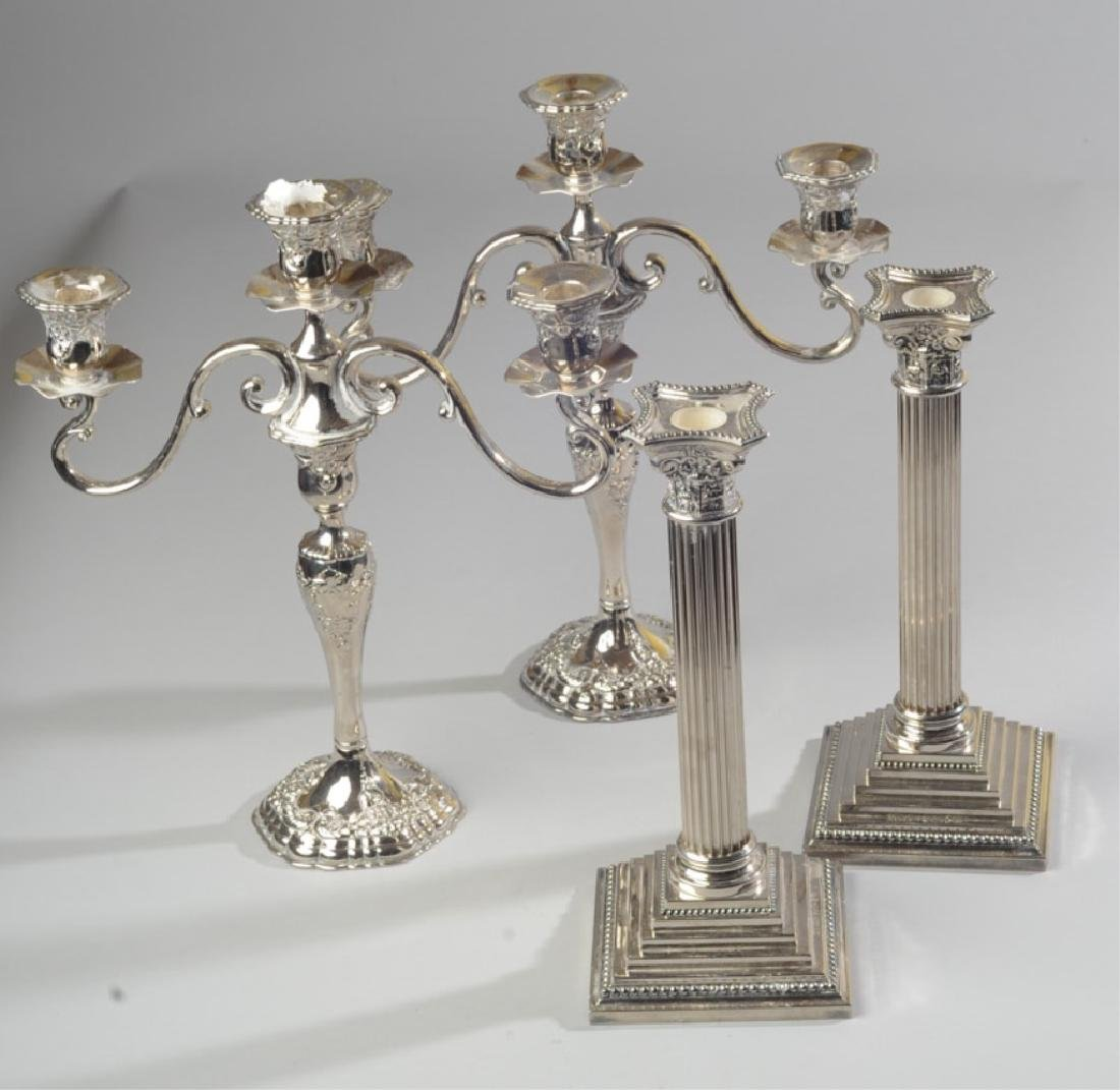 Silverplate Candlesticks