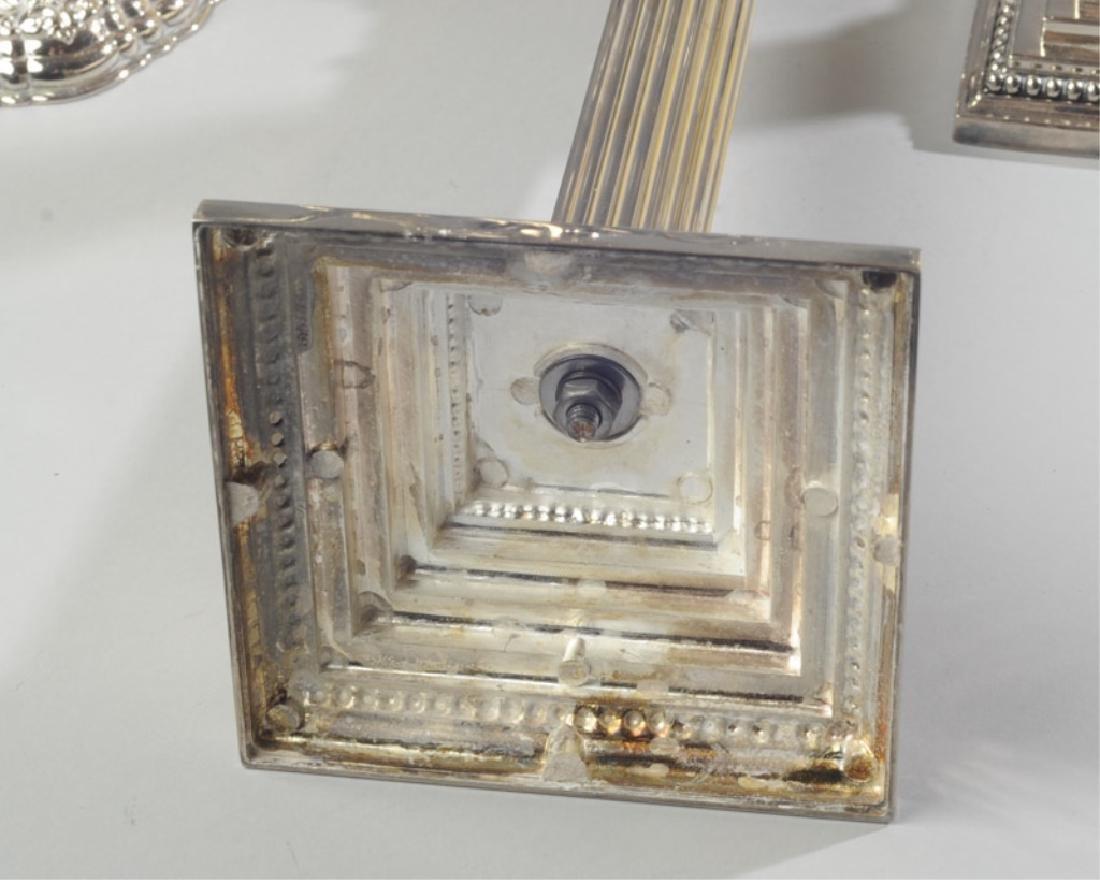 Silverplate Candlesticks - 3