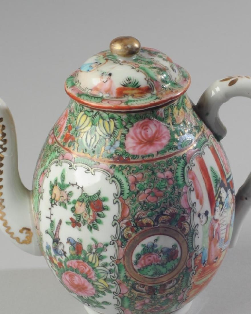 Chinese Rose Medallion Teapot - 2