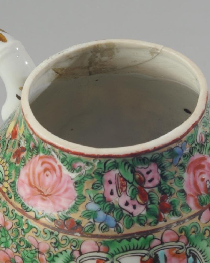 Chinese Rose Medallion Teapot - 3