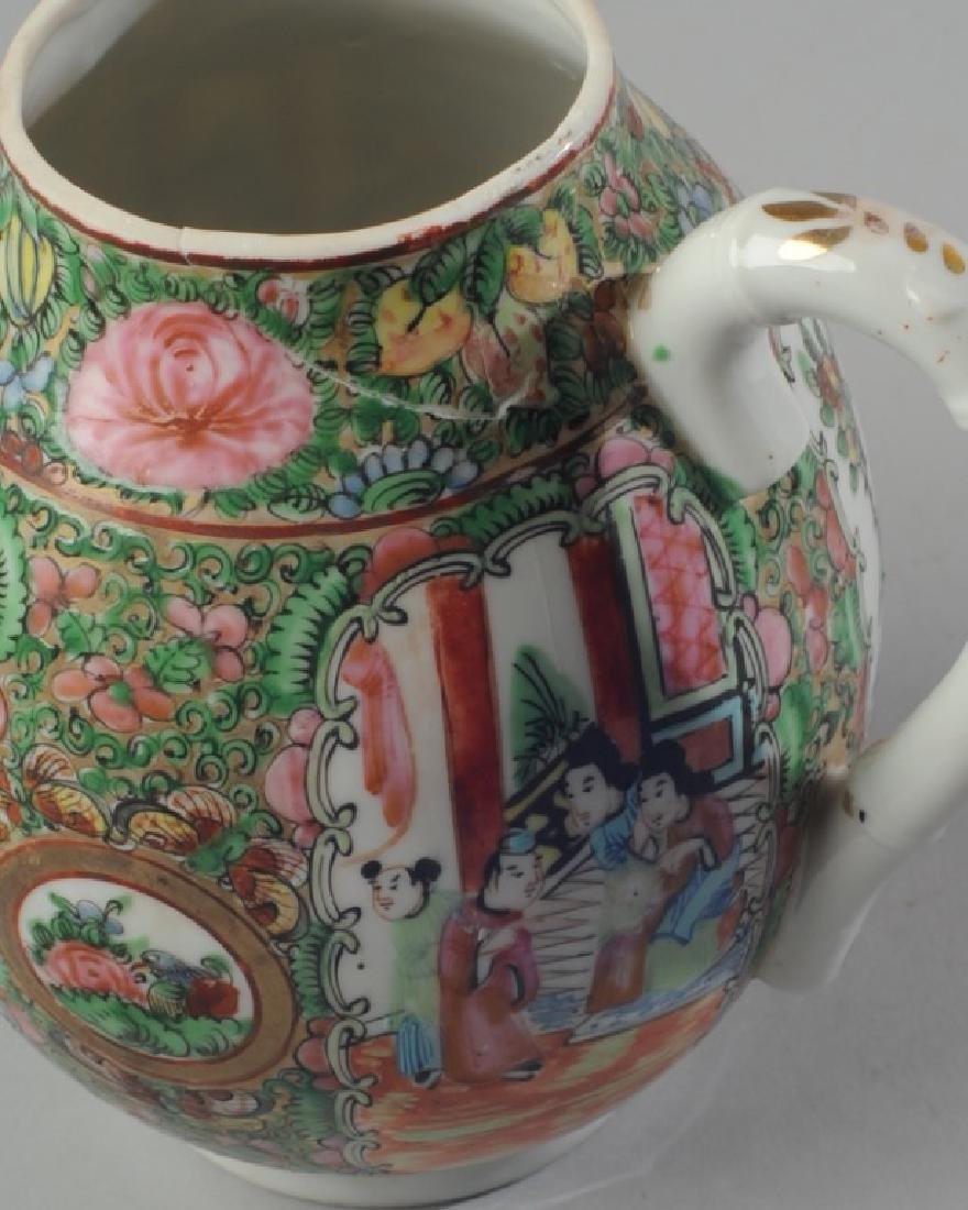 Chinese Rose Medallion Teapot - 4