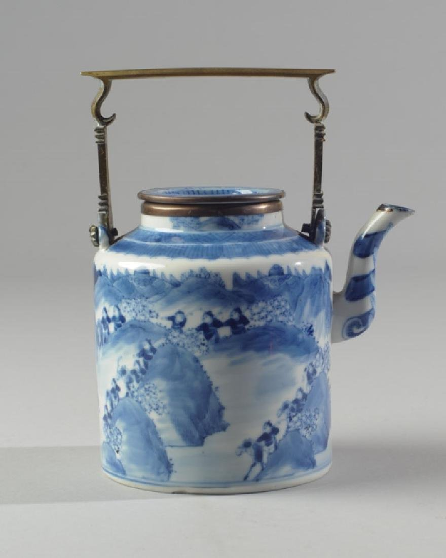 Chinese Blue & White Porcelain Teapot and Cover