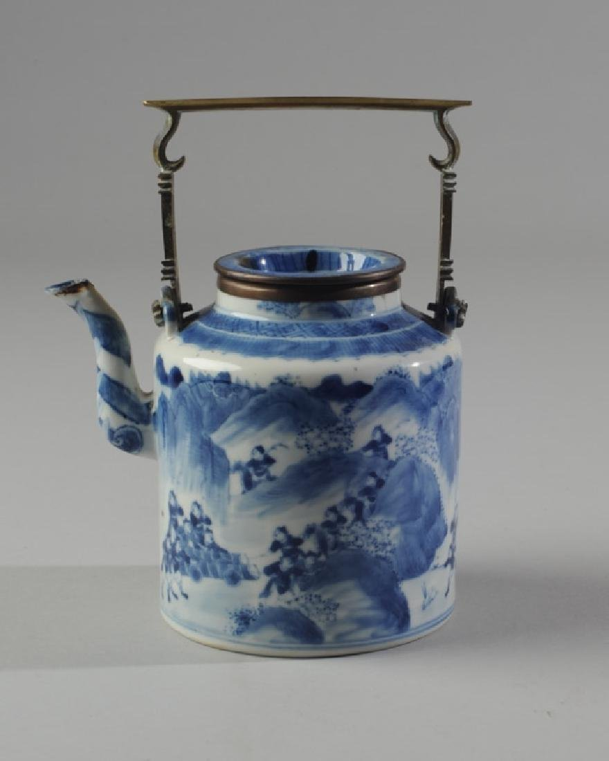 Chinese Blue & White Porcelain Teapot and Cover - 2