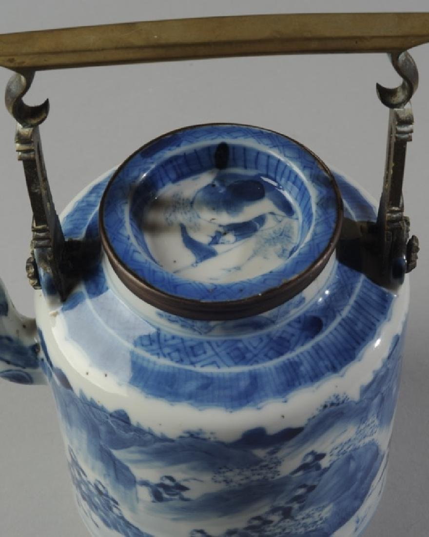 Chinese Blue & White Porcelain Teapot and Cover - 3
