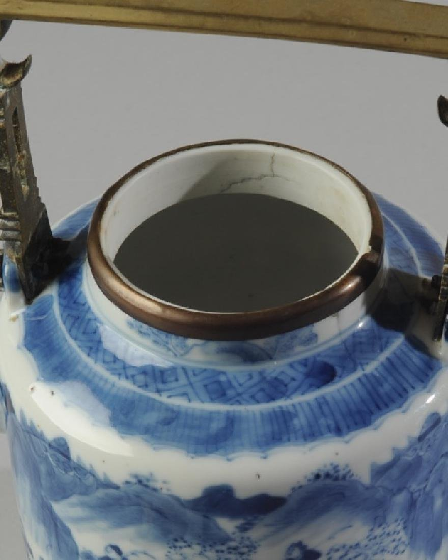 Chinese Blue & White Porcelain Teapot and Cover - 5