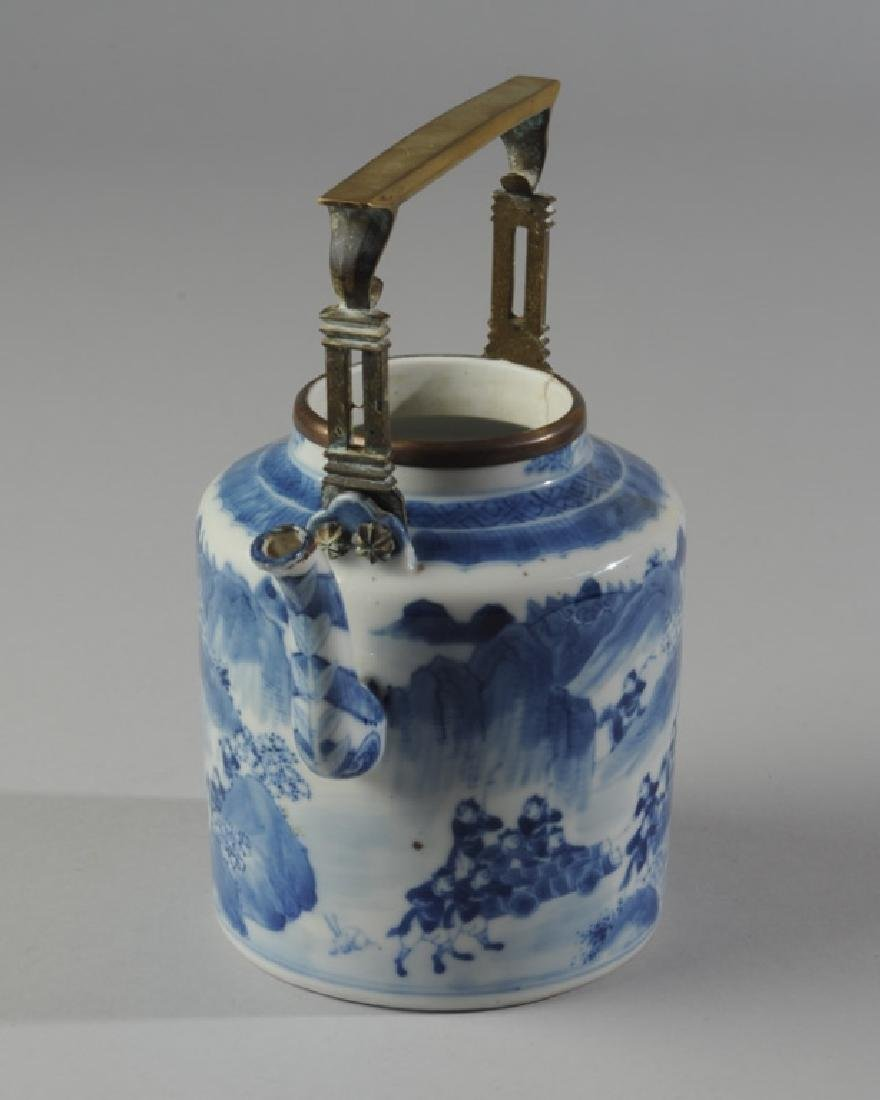 Chinese Blue & White Porcelain Teapot and Cover - 6