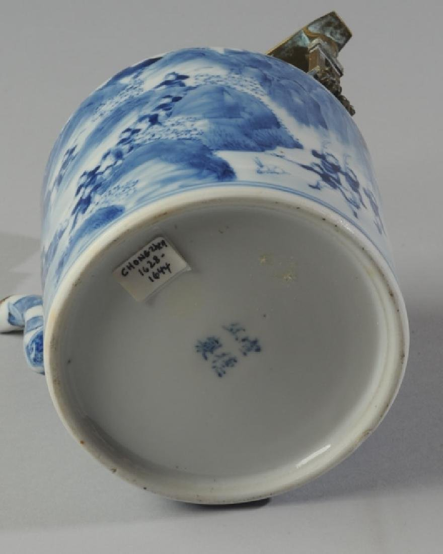Chinese Blue & White Porcelain Teapot and Cover - 7
