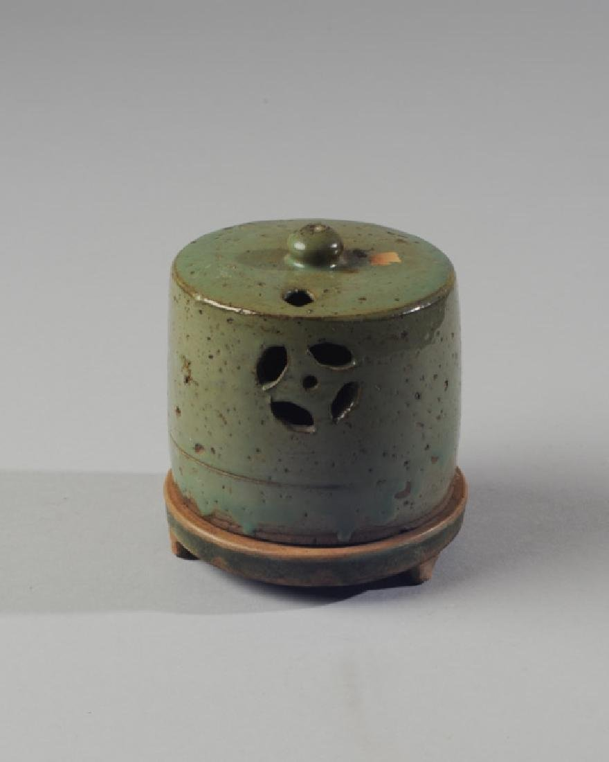Chinese Oil Lamp or Censer with Cover