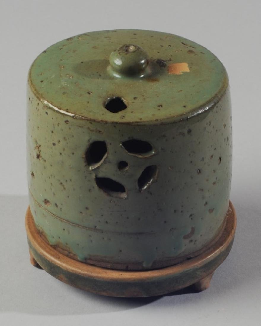 Chinese Oil Lamp or Censer with Cover - 2