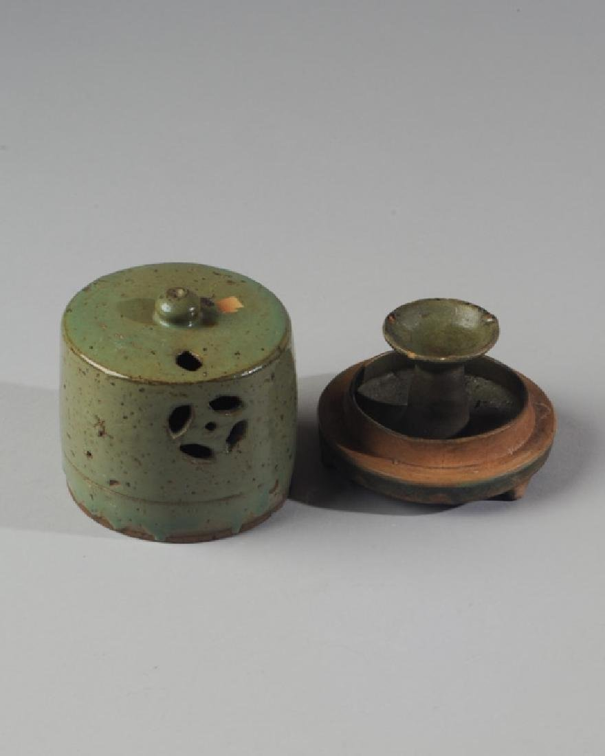 Chinese Oil Lamp or Censer with Cover - 3