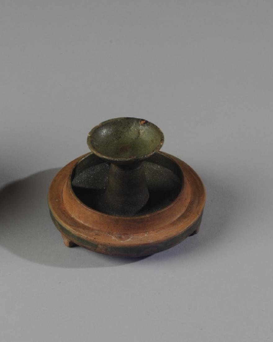 Chinese Oil Lamp or Censer with Cover - 4