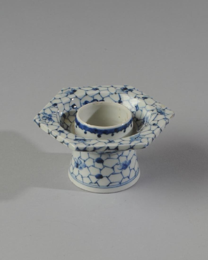 Chinese Blue & White Porcelain Cup Stand