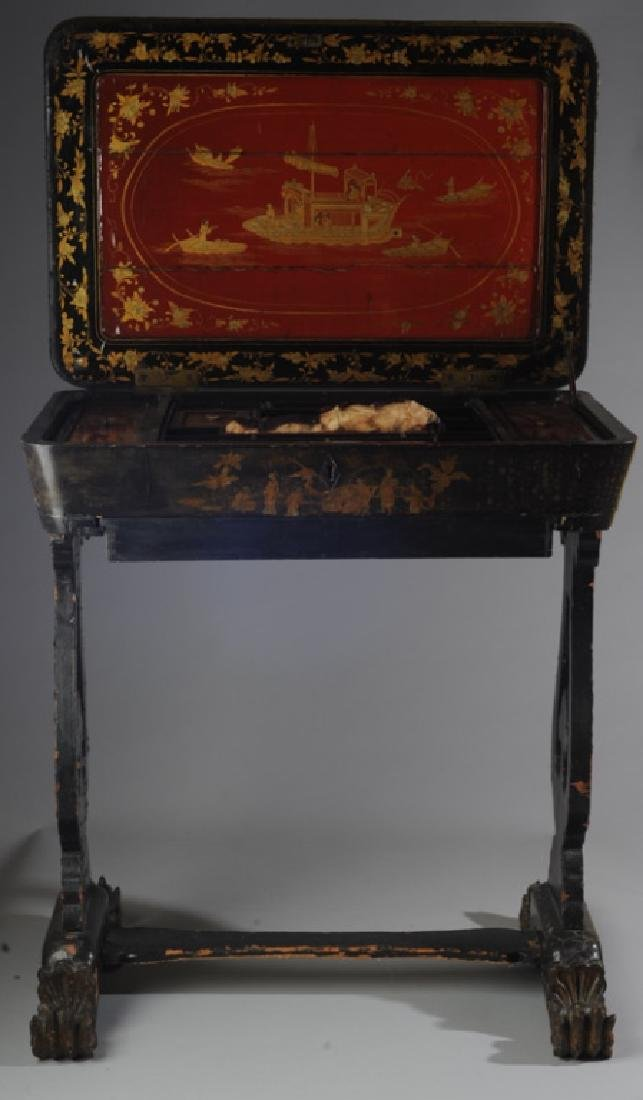 Early Chinoiserie Sewing Table