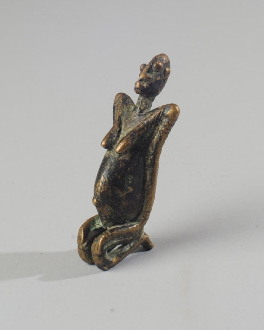 Small African Bronze Figure of Woman