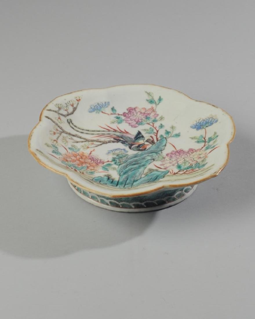 Chinese Republic Famille Rose Footed Plate