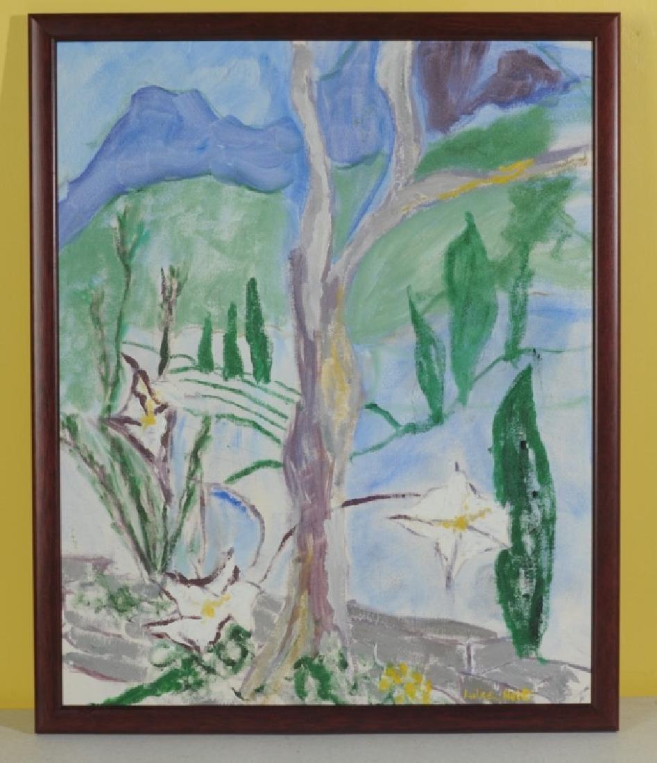 Lulee Holt Oil on Board Landscape