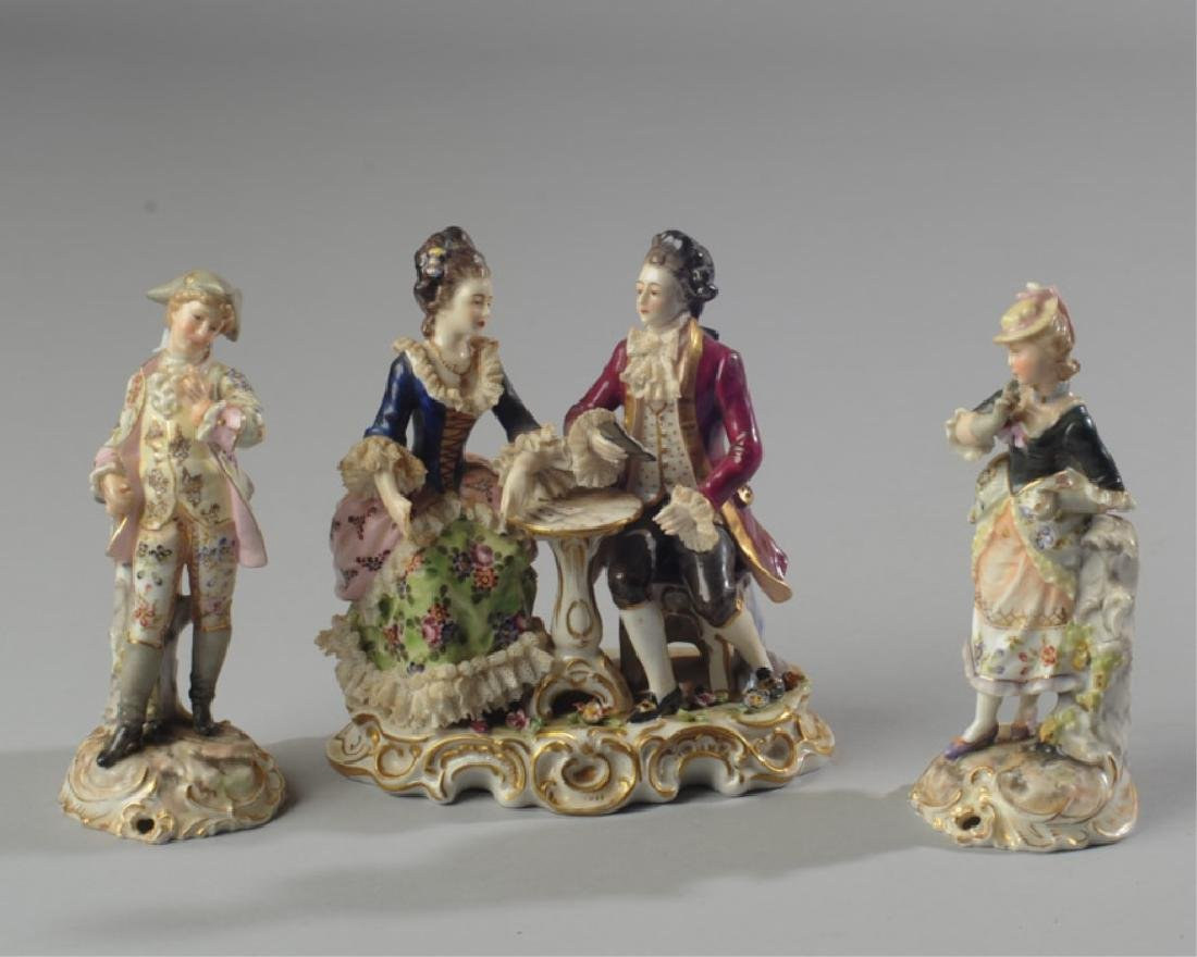 Three 19th C. Dresden Style Figures