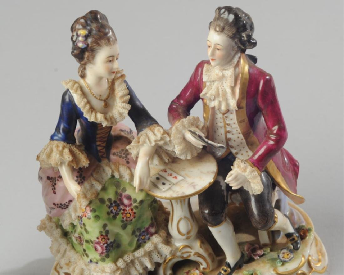 Three 19th C. Dresden Style Figures - 3
