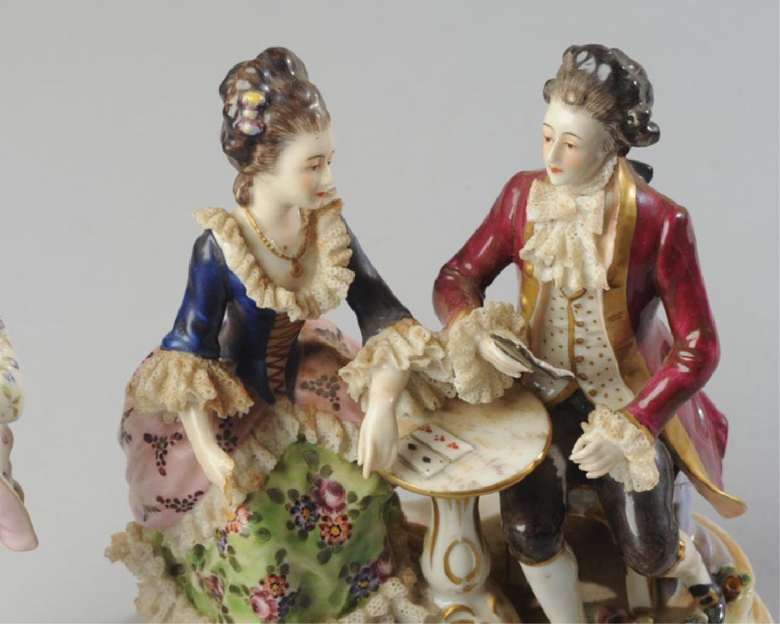 Three 19th C. Dresden Style Figures - 4