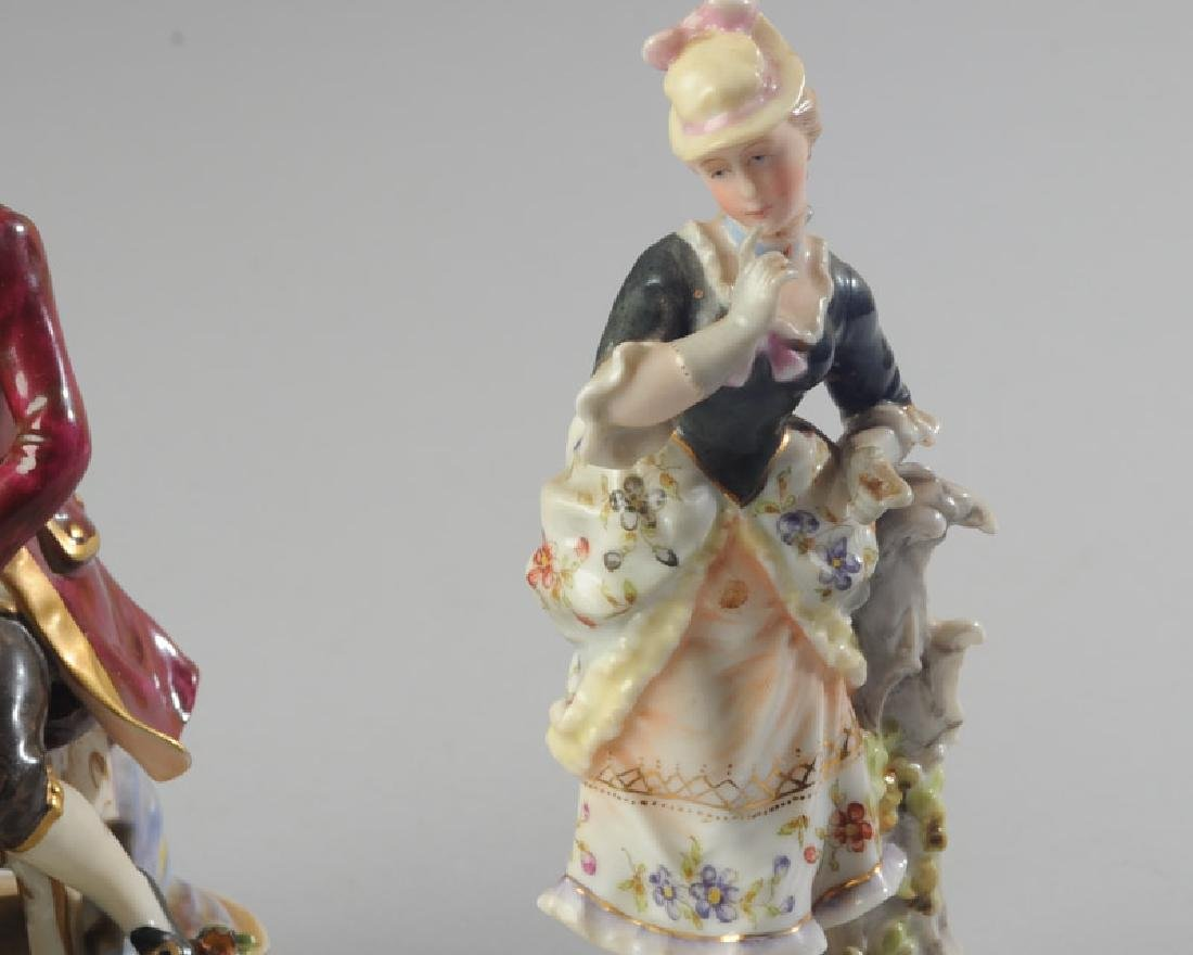 Three 19th C. Dresden Style Figures - 5