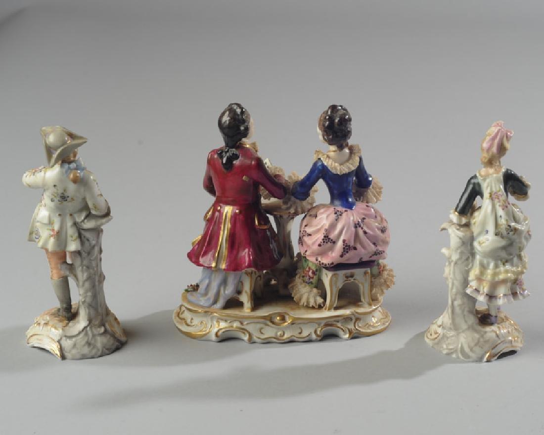 Three 19th C. Dresden Style Figures - 6