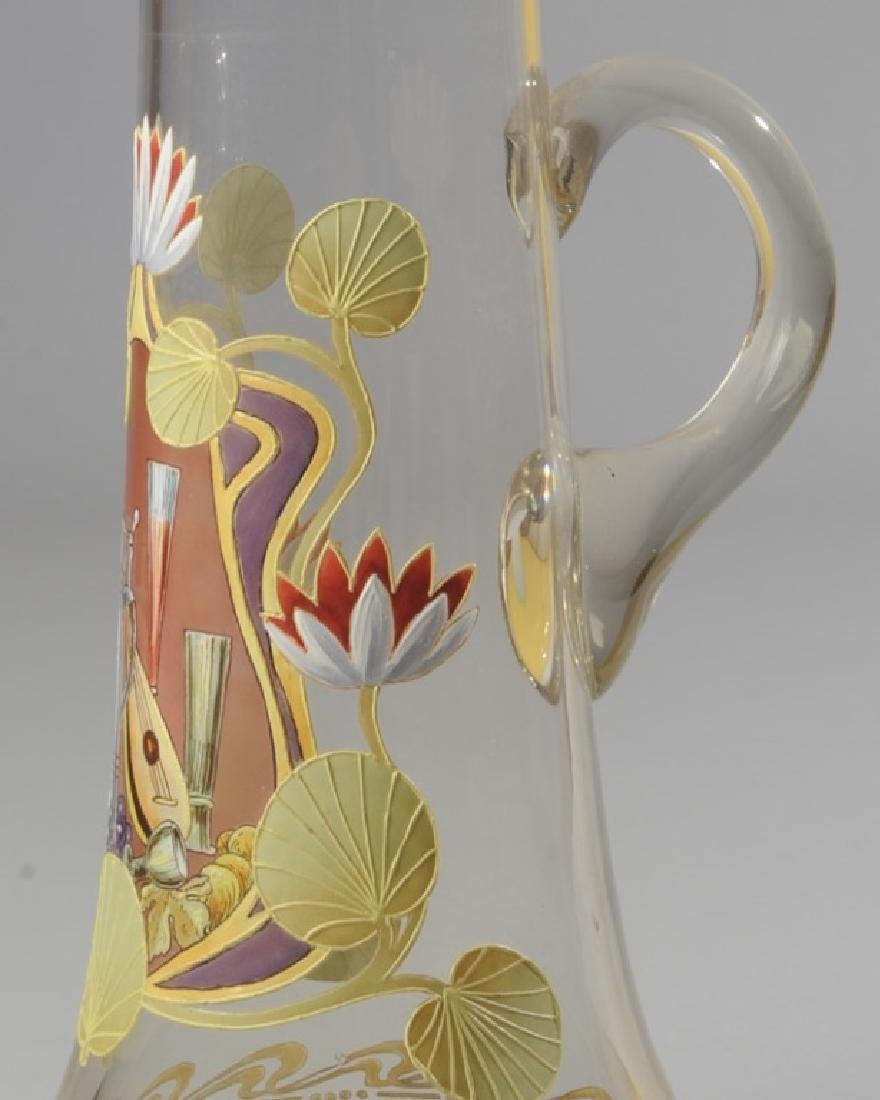Blown Glass and Enamel Ewer - 2