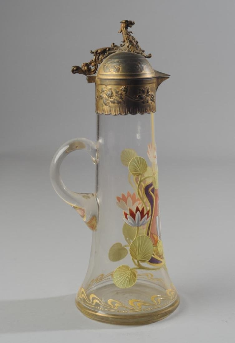 Blown Glass and Enamel Ewer - 4
