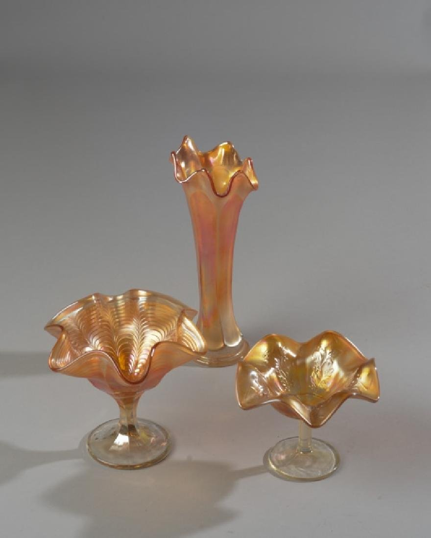 Three Pieces of Carnival Glass