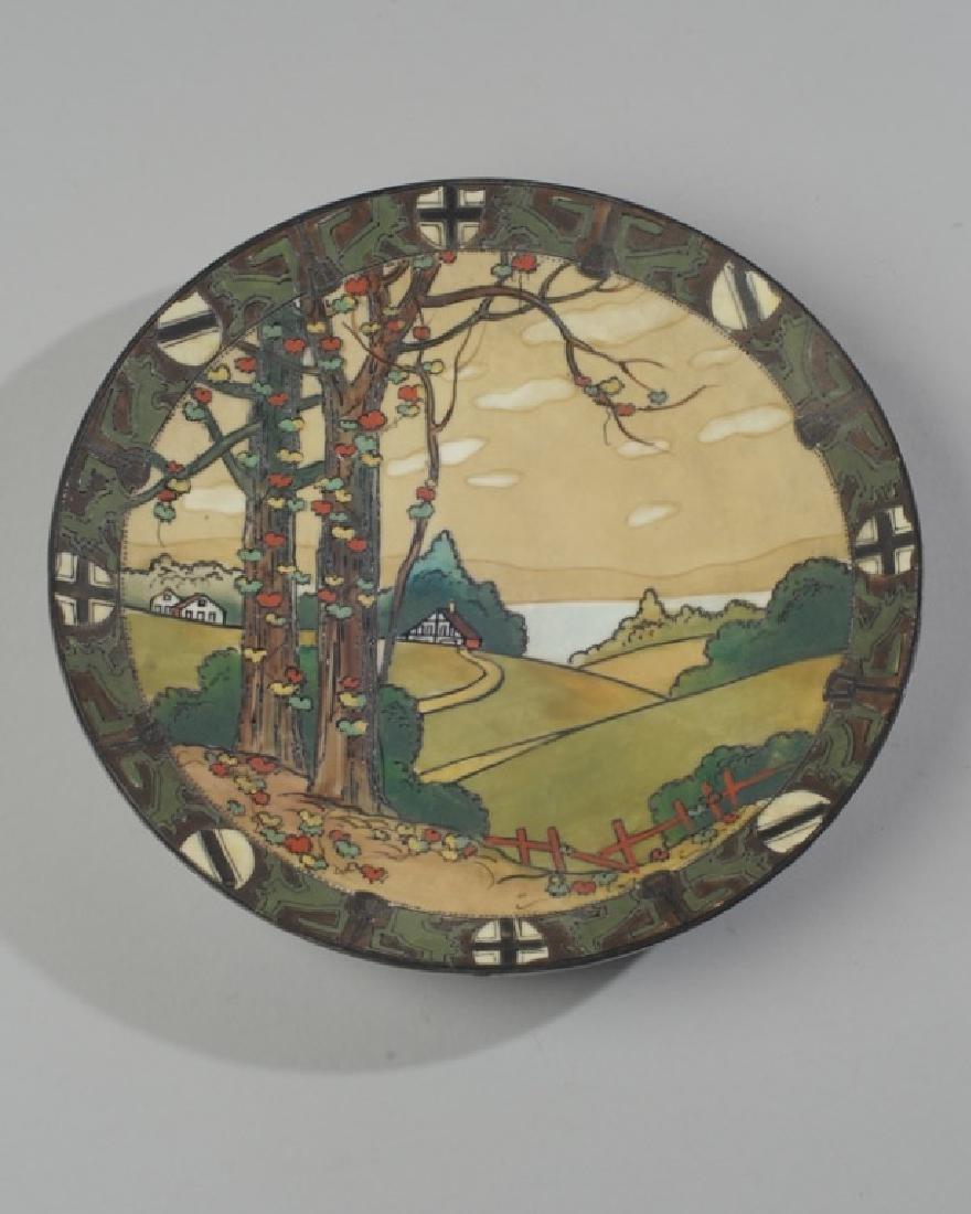 Fine Nippon Arts & Crafts Scenic Plaque