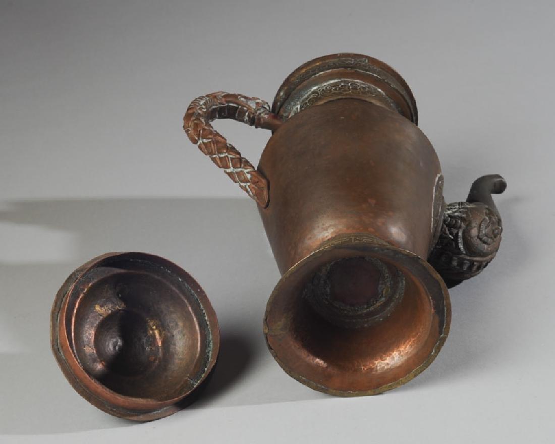Antique Chinese Copper & Brass Dragon Ewer - 5