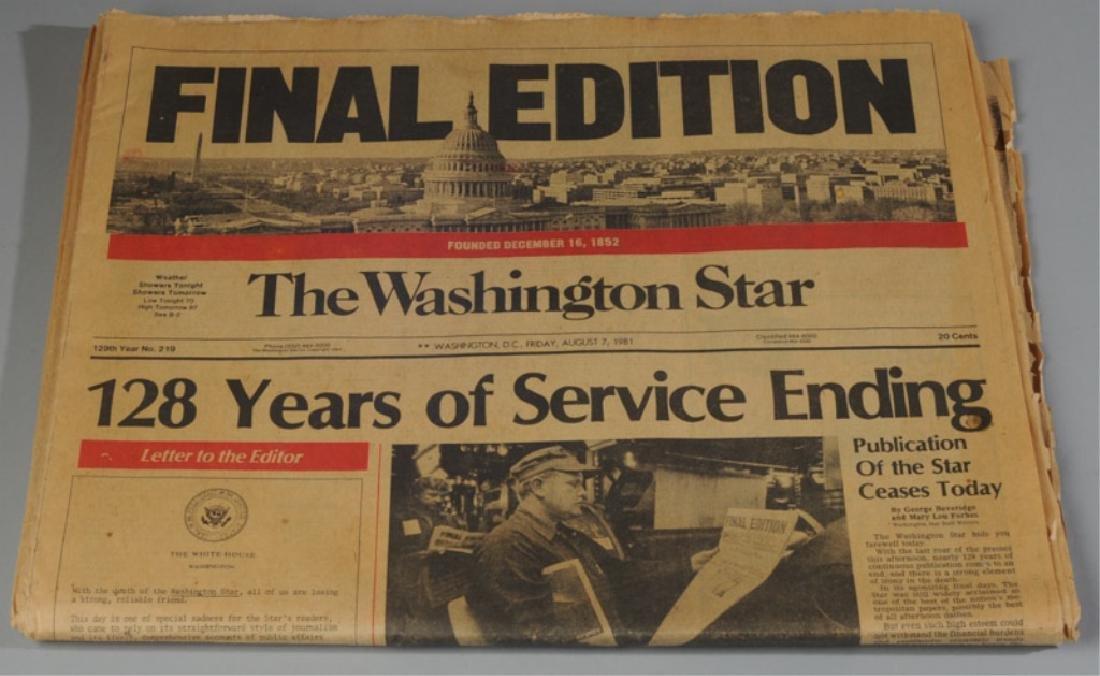 The Washington Star Final Edition Aug. 7th, 1981