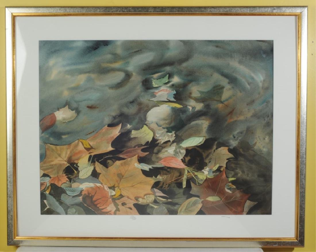 Watercolor of Leaves