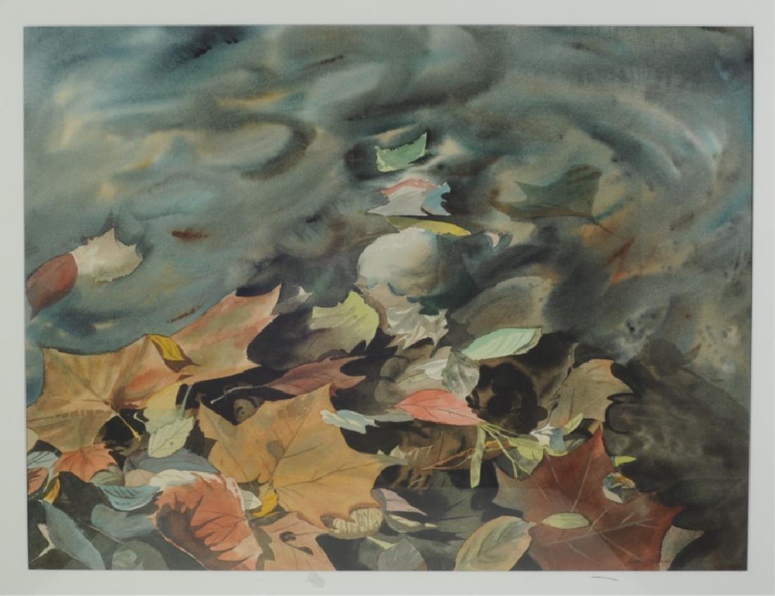 Watercolor of Leaves - 2