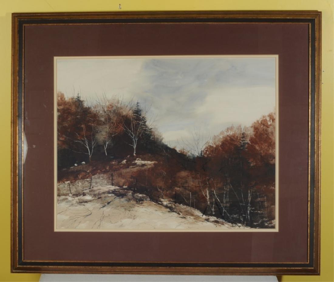 Dennis Frings Watercolor Winter Landscape