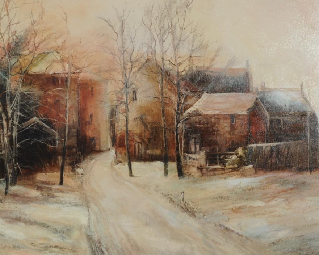 Francois d'Izarny b. 1952 Oil on Canvas Winter Village - 3