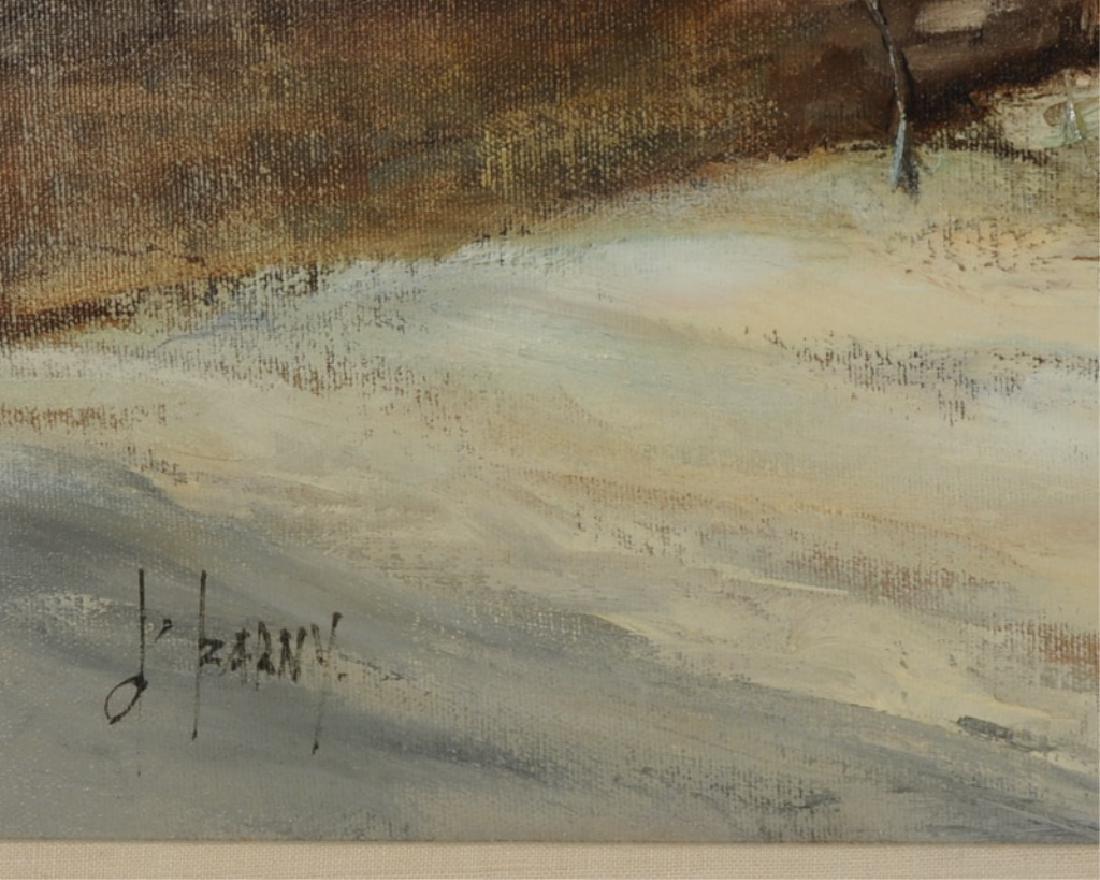 Francois d'Izarny b. 1952 Oil on Canvas Winter Village - 4