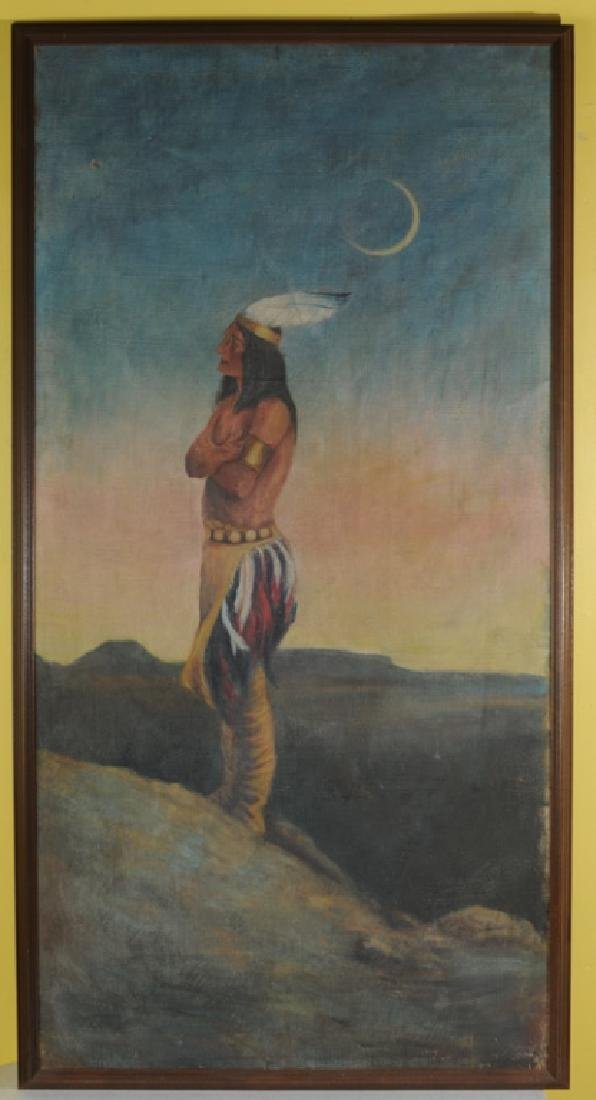Oil on Canvas of Native American