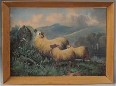 John W Morris British 18651924 Oil on Canvas