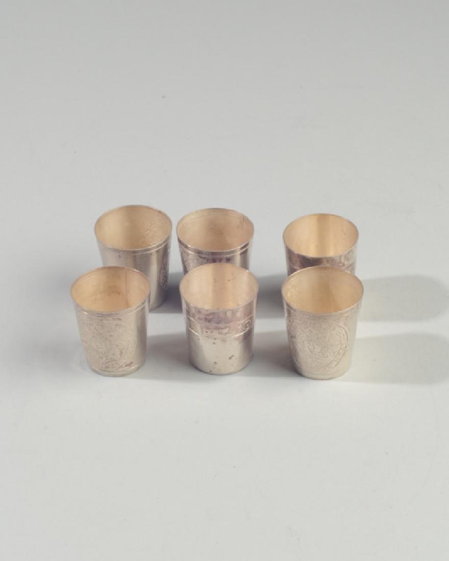 Vintage Set Taxco Sterling Shot Glasses