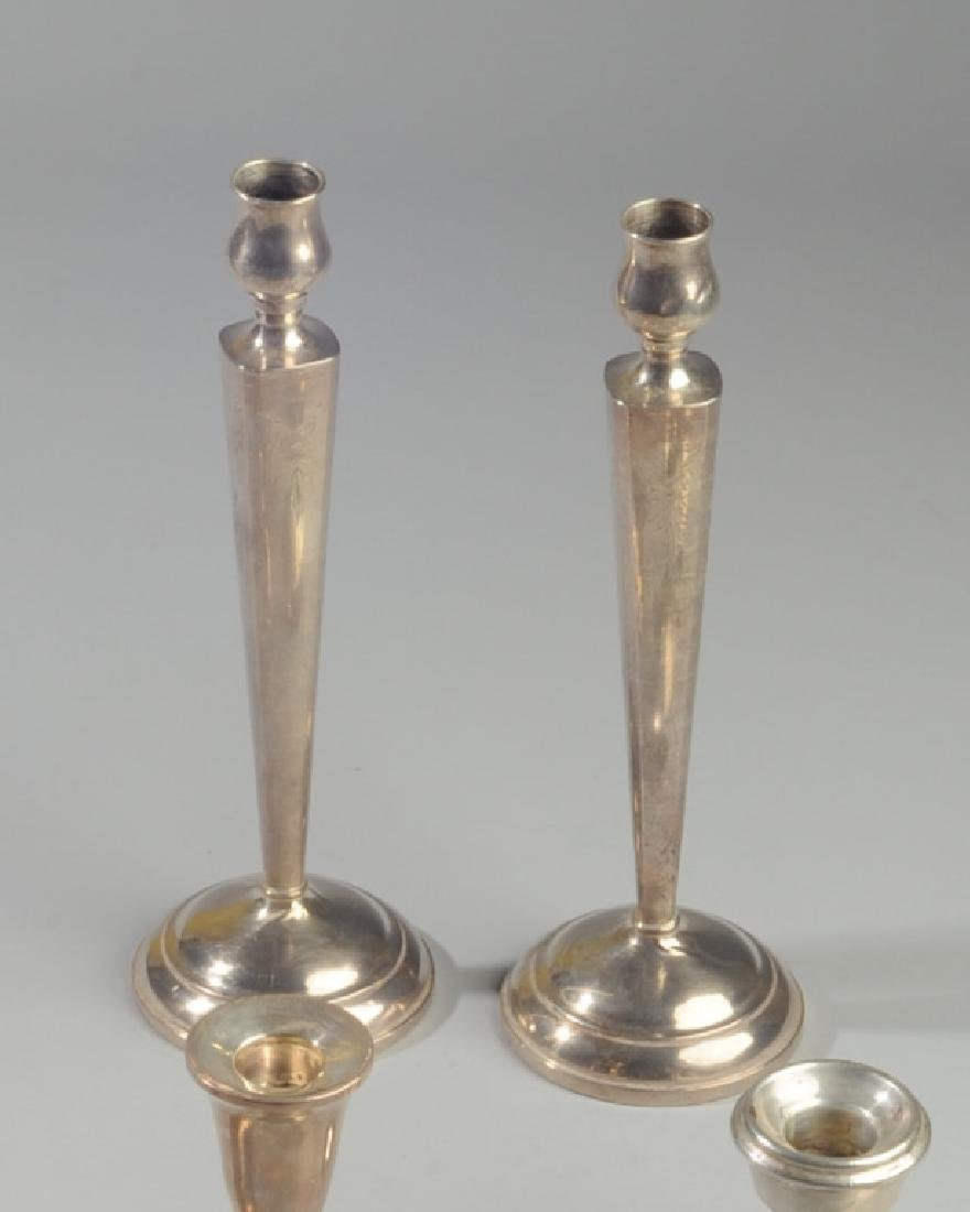 3 Pairs Vintage Weighted Sterling Candlesticks - 2