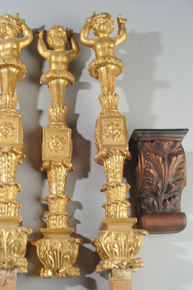 4 Continental Giltwood  Architectural Elements - 4
