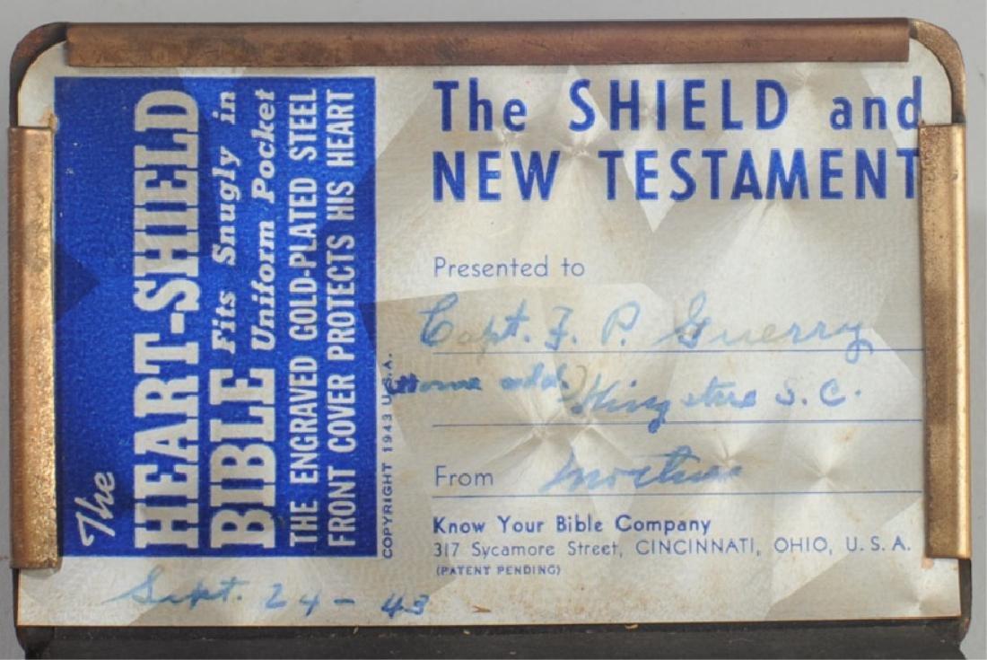 WWII Heart Shield Bible - 2