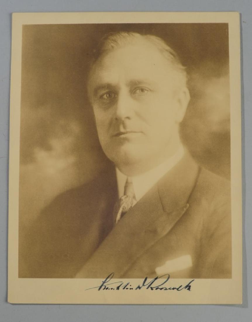 Franklin Delano Roosevelt Signed Photograph