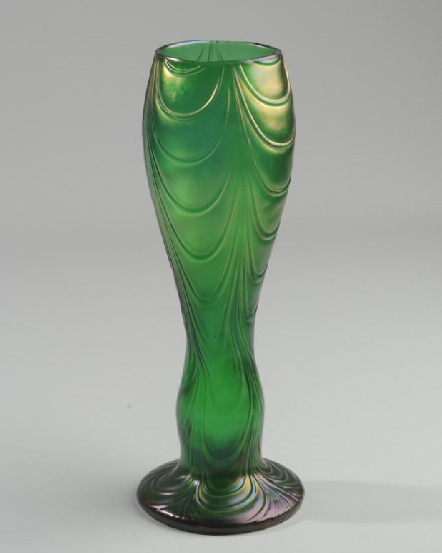 Loetz-type Crete Bohemian Glass Vase