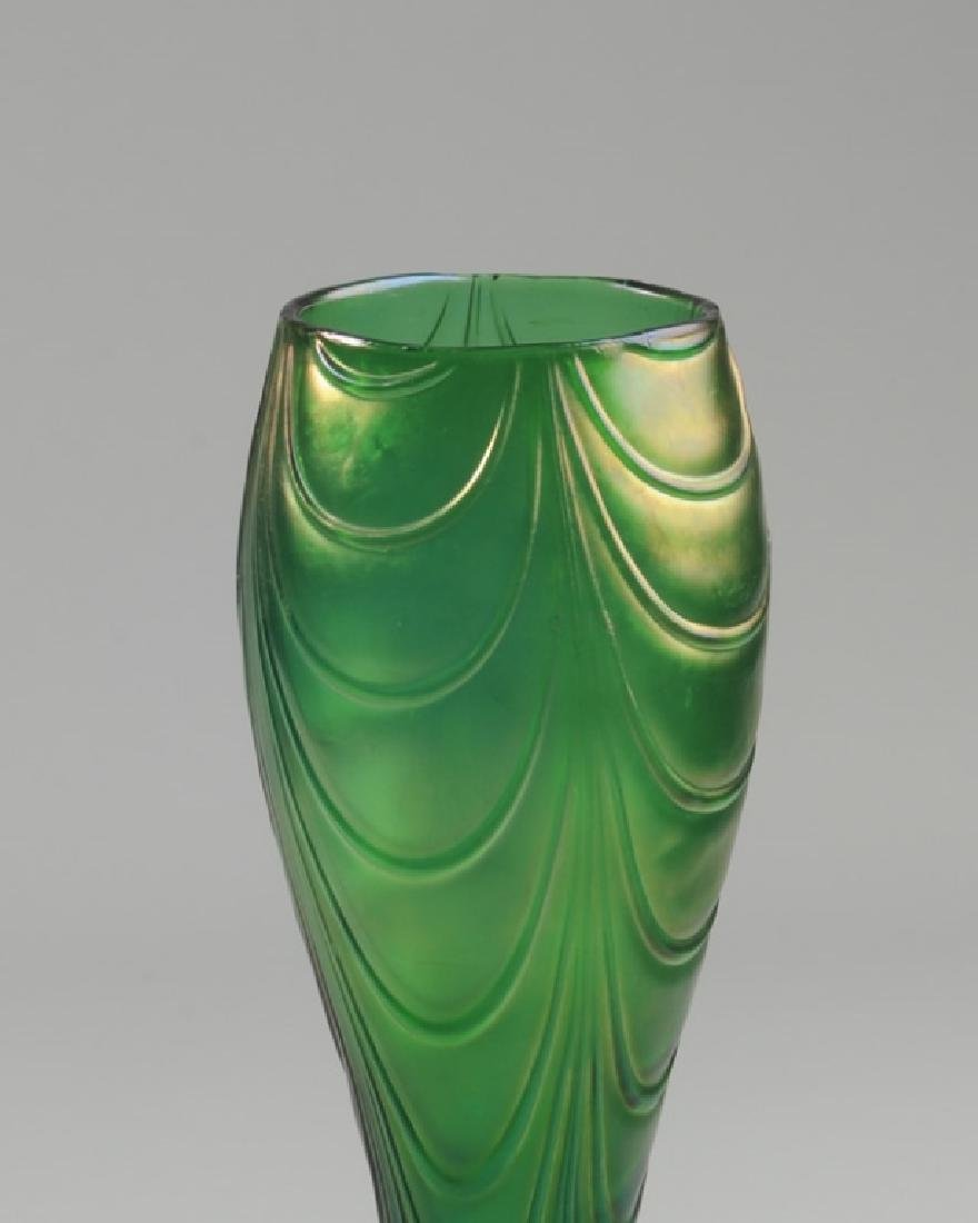 Loetz-type Crete Bohemian Glass Vase - 2